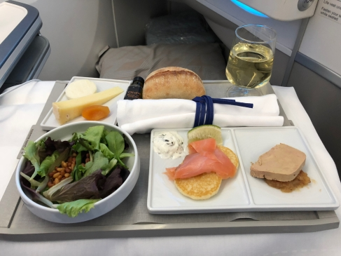 Fine dining at 38,000 feet